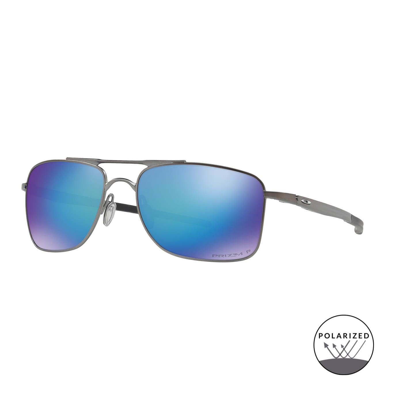 Abbildung von Oakley Gauge 8 Matt Gunmetal Polarisierte Sonnenbrille 0OO4124 412406 57