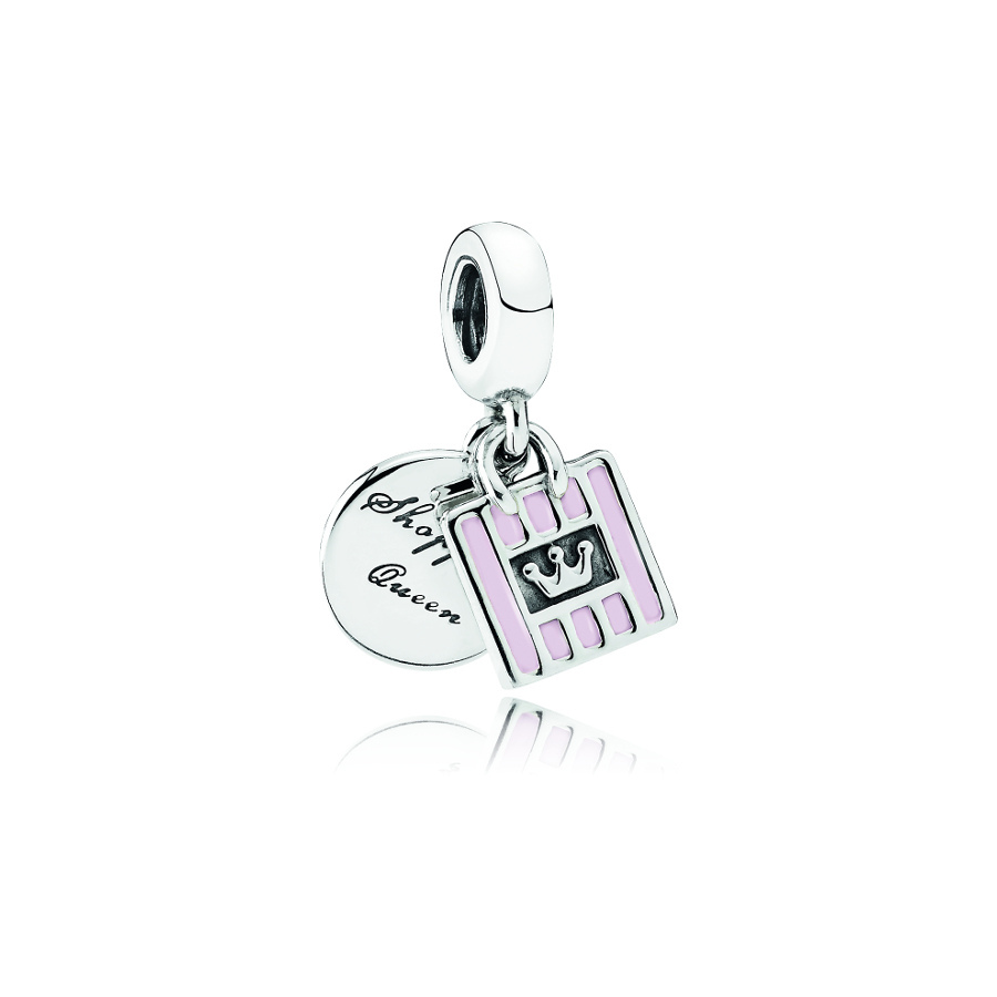 Pandora Silber Shopping Bag Charm 791985EN40