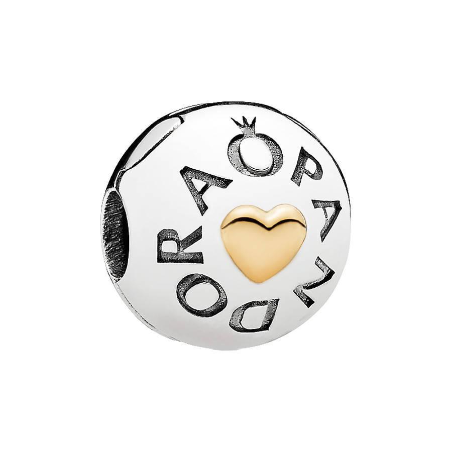 Pandora Moments Goldenes Insignia Heart Charm 7...