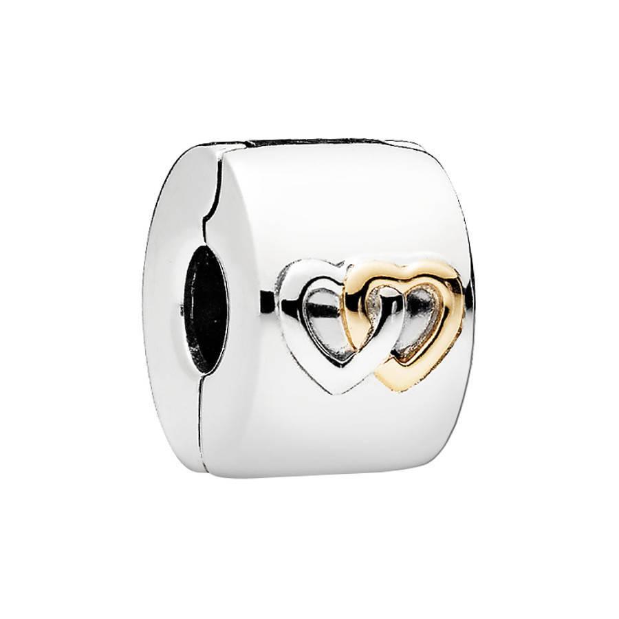 Pandora Moments Goldenes Hearts Aglow Charm 796266