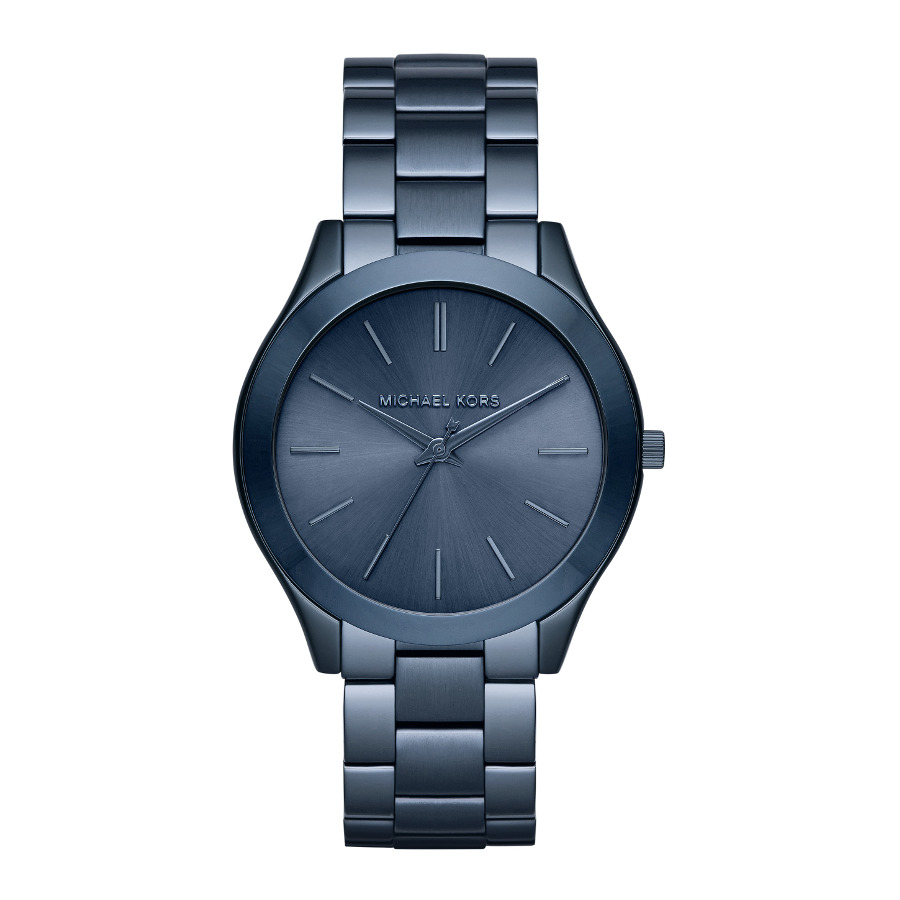 Artikel klicken und genauer betrachten! - Die Michael Kors Slim Runway Uhr MK3419ist eine trendy und modische Analog Damen uhr. Das armband ist aus Edelstahl in de Farbe Blau. Die Damen uhr hat ein Quartz-Uhrwerk miet einem Ziffernblatt in der Farbe Blau. Das Gehäuse ist Edelstahl und hat einen durchmesser von 42 mm mit Farbe Blau. | im Online Shop kaufen