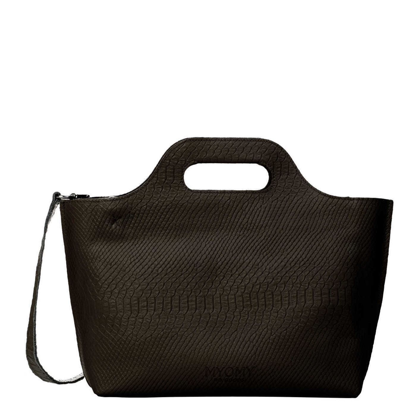 MYOMY My Carry Bag Handbag Anaconda Black Handt...