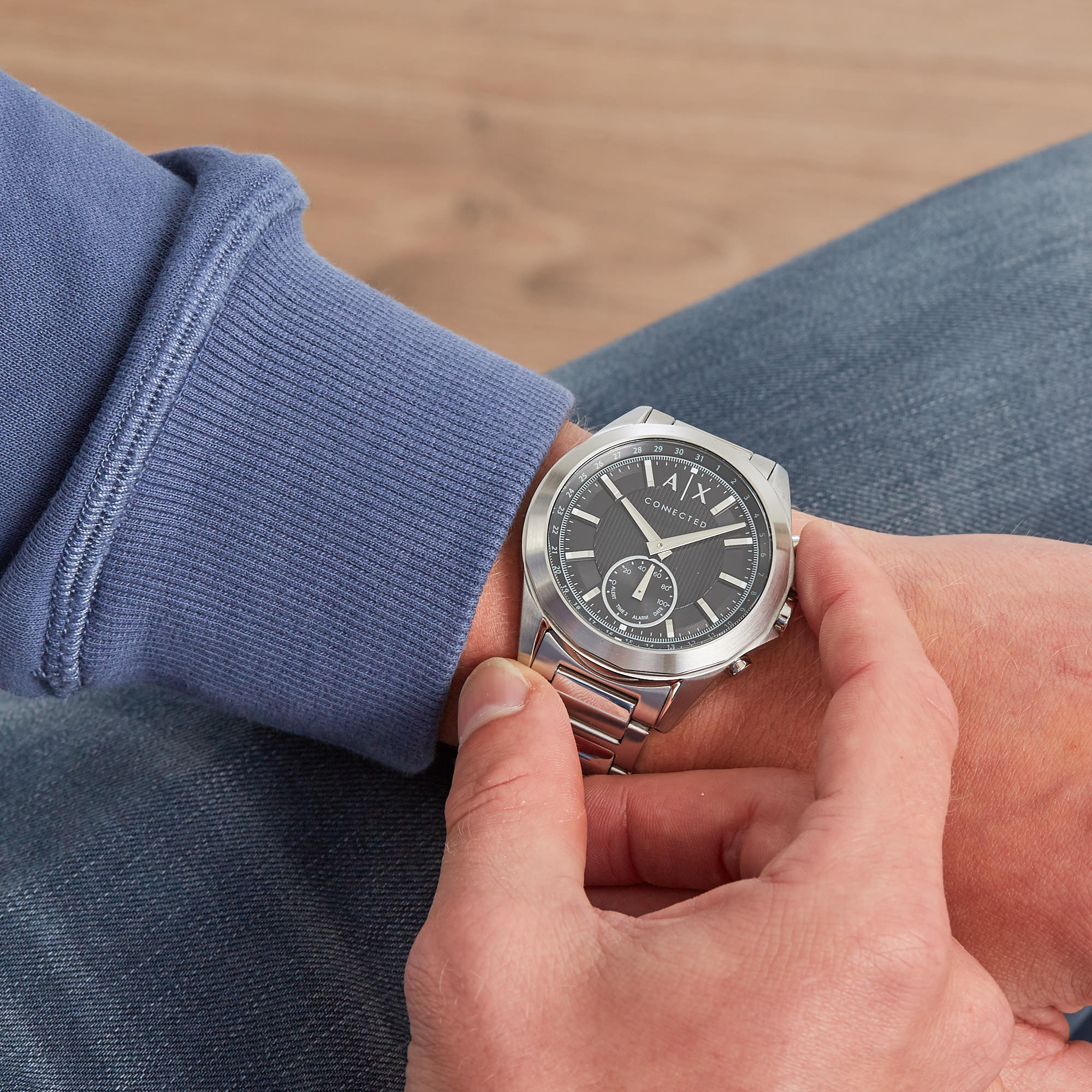 Armani Exchange Drexler Connected Hybrid Smartwatch AXT1006