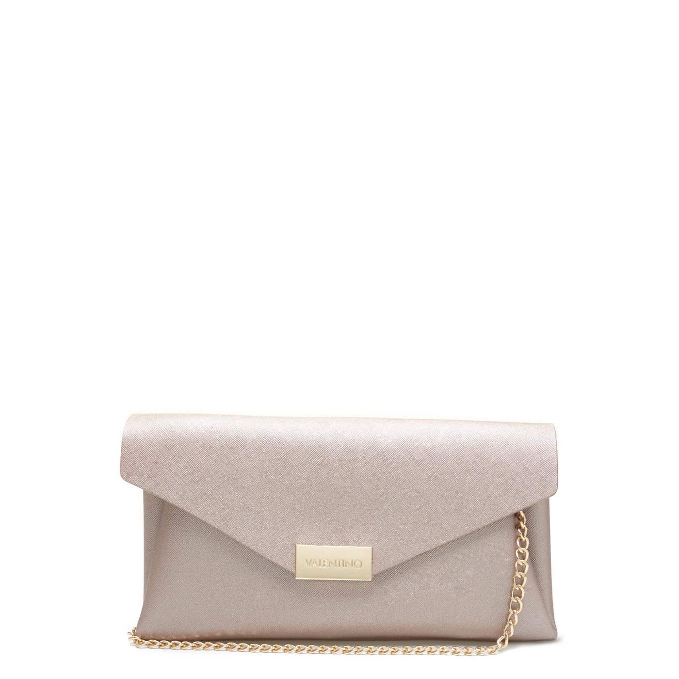 Valentino Bags Arpie Oro Rosa Clutch VBS3XI01ORO-ROSA