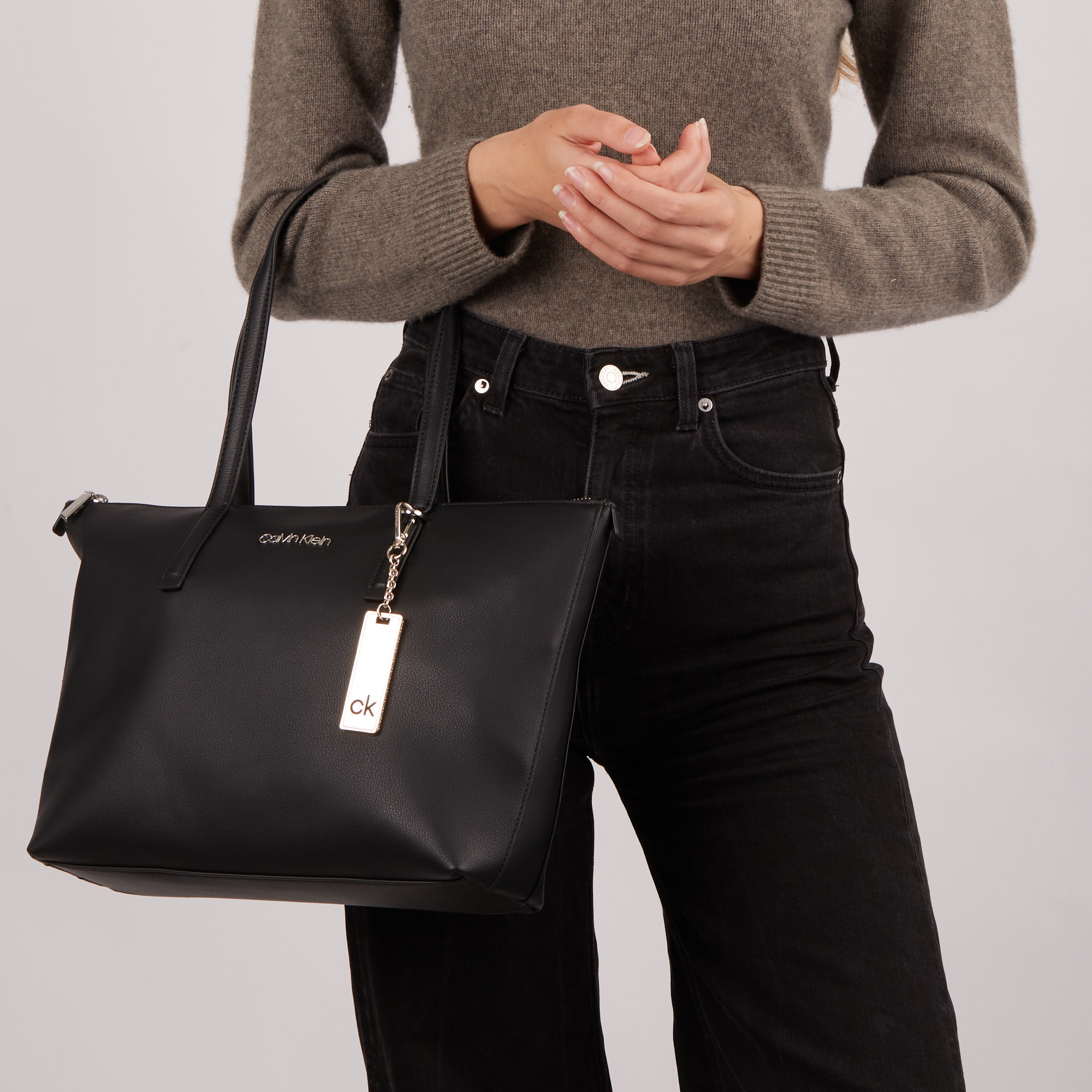 Calvin Klein Ck Black Shopper K60K608283BAX