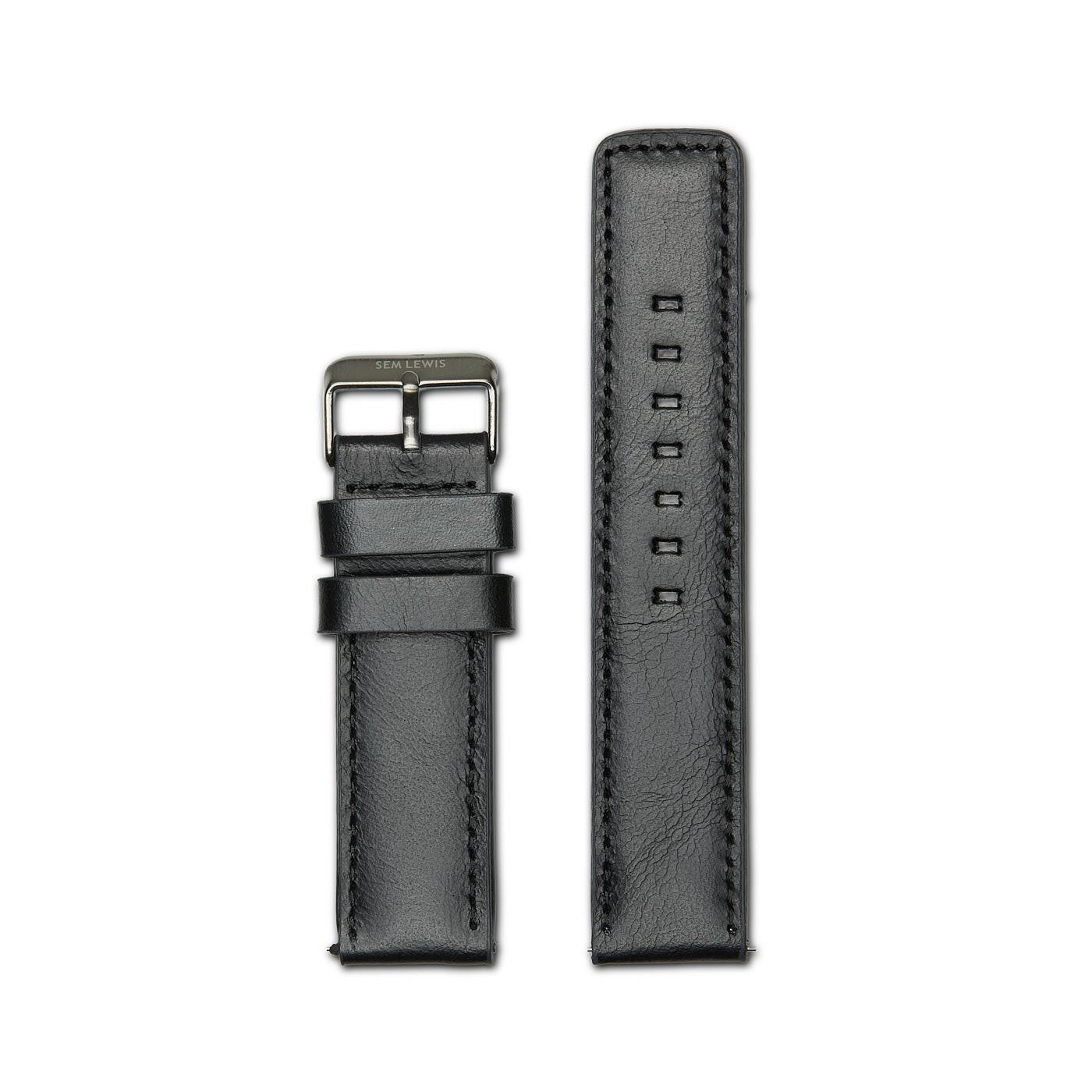 Sem Lewis Strap 22mm Leather Black SL610002