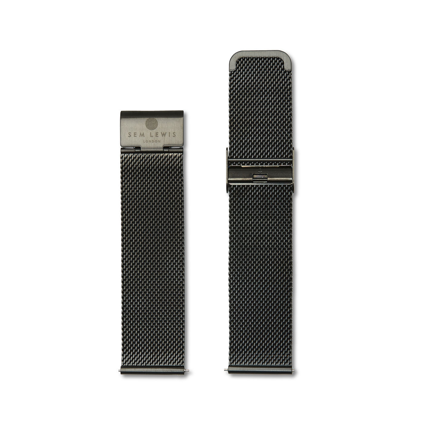 Sem Lewis Strap 22mm Grain Black SL620001