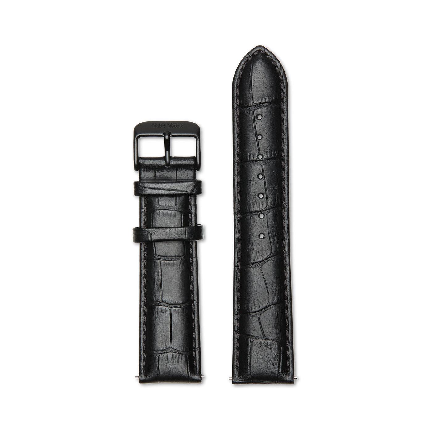 Mats Meier Strap 22 mm Croco Black MM41006
