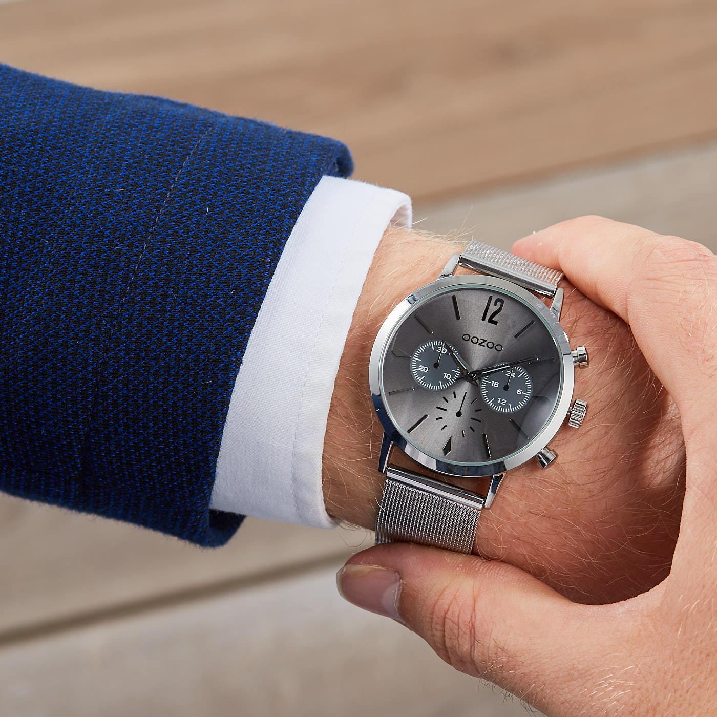OOZOO Timepieces Zilver/Grijs horloge C9465 (40 mm )