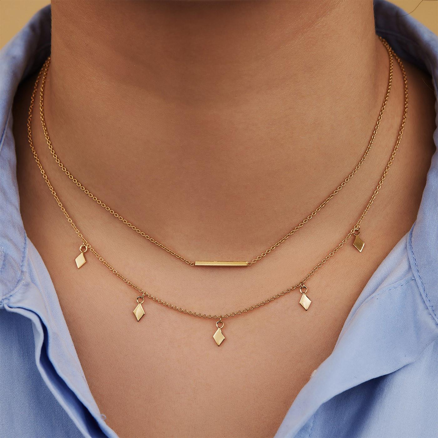 Selected Jewels Julie Charlotte 925 Sterling Zilveren Goudkleurige Ketting SJ340022
