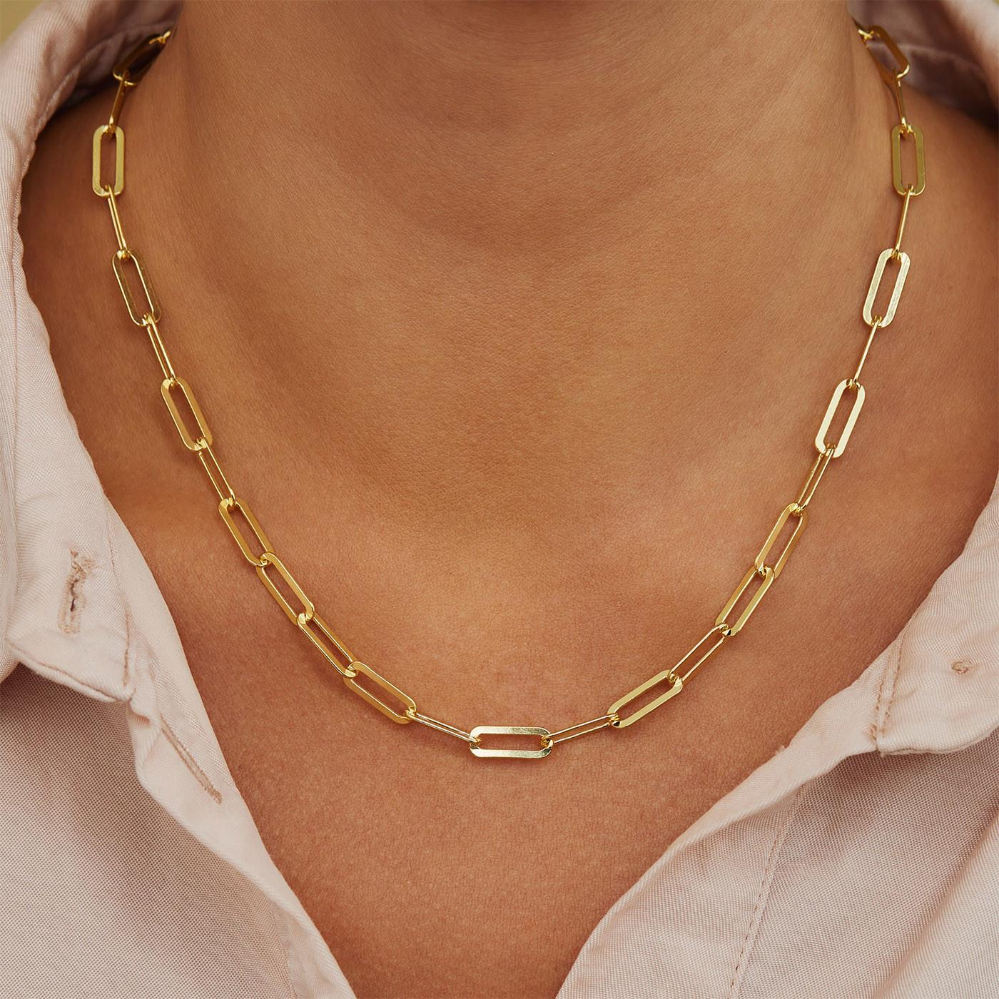 Selected Jewels Emma Jolie 925 sterling zilveren goudkleurige ketting SJ340007