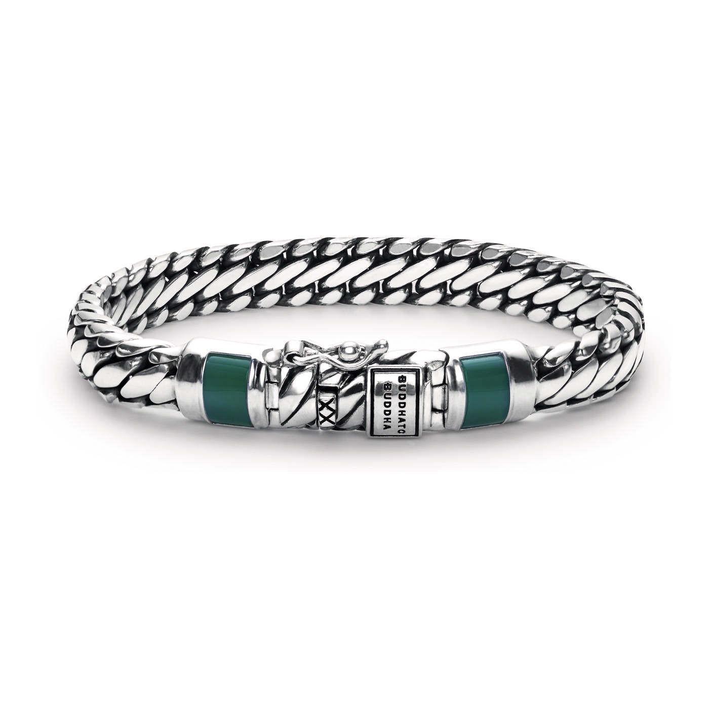 Buddha to Buddha Ben XS Stone Green Chalcedony Armband J070GR (Lengte: 18-19 cm)