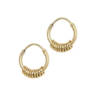 ANNA + NINA 925 Sterling Zilveren Essentials Multi Goudkleurige Oorbellen 011614GP0000