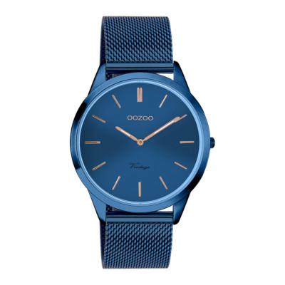 OOZOO Vintage Blauw horloge C20007 (38 mm)