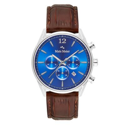 Mats Meier Grand Cornier Chrono Blauw/Bruin horloge MM00103