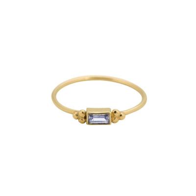 ANNA + NINA 14 Karaat Gouden Solid Gold Baguette Ring 18-2M90806G