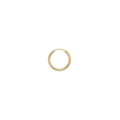 ANNA + NINA 925 Sterling Zilveren Single Thick Plain Ring Oorbel Large 21-1M902005GP