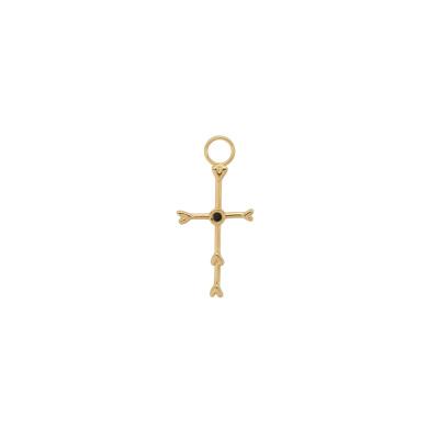 ANNA + NINA 925 Sterling Zilveren Cross My Heart Oorbedel 21-1M904005GP