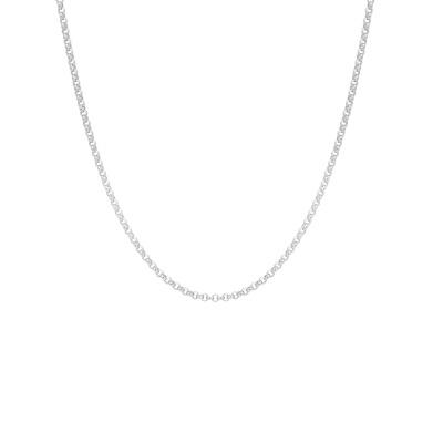 ANNA + NINA 925 Sterling Zilveren Jasseron Ketting 21-2M903008S