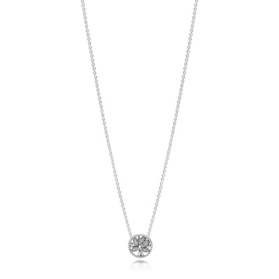 Pandora Stories 925 Sterling Zilveren Tree Of Life Ketting 397780CZ