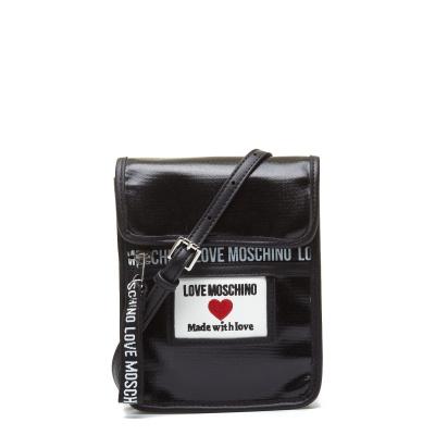 Love Moschino Canvas Nero Crossbody Tas JC4035PP1CLC100A