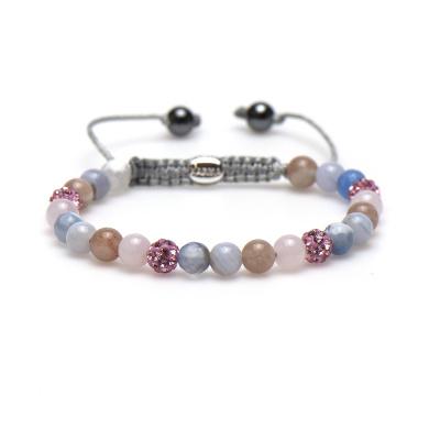 Karma Spiral Peaceful Pink Armband 83406 (Lengte: 17.50-19.00 cm)