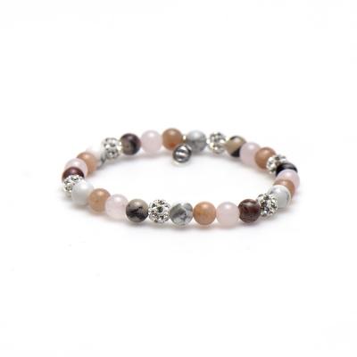 Karma Spiral Beady Blush Armband 83440EL (Lengte: 18.00 cm)