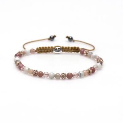 Karma Spiral Beautiful Berry Armband 84326 (Lengte: 17.50-19.00 cm)
