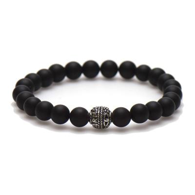 Karma Black is Black Silver Bead Armband 86662 (Lengte: 20 cm)