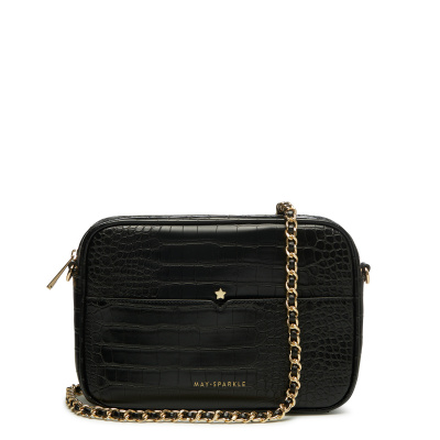 May Sparkle Festive Black Croco Crossbody MS22004
