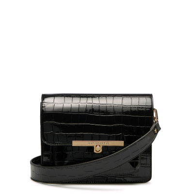 May Sparkle Festive Black Croco Crossbody MS22008