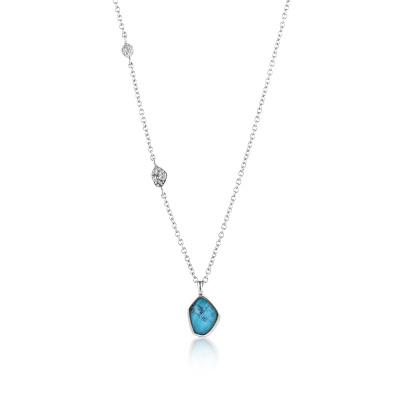 Ania Haie 925 Sterling Zilveren Mineral Glow Collier AH-N014-02H (Lengte: 45.00 cm)