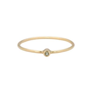 ANNA + NINA 14 Karaat Gouden Solid Gold Birthstone August Ring 19-3M908022G