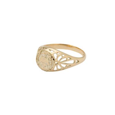 ANNA + NINA 14 Karaat Gouden Solid Gold Betsy Pink Ring 18-2M908040G