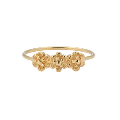 ANNA + NINA 14 Karaat Gouden Solid Gold Bloom Ring 20-3M908007G