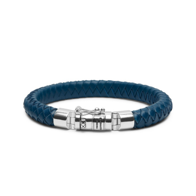 Buddha to Buddha Ben Small Leather Blue Armband 180BU-D (Lengte: 18.00-23.00 cm)