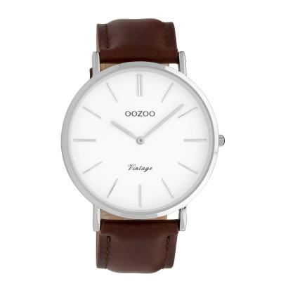 OOZOO Vintage Bruin/Wit horloge C9830 (40 mm)