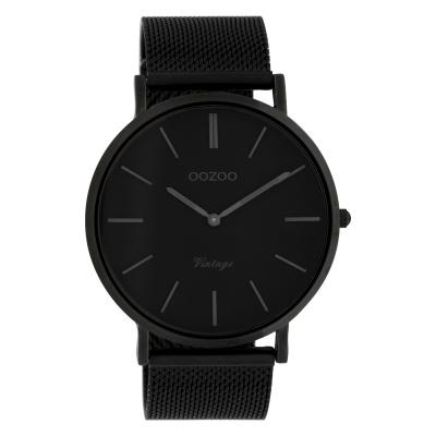 OOZOO Vintage Zwart horloge C9932 (44 mm)