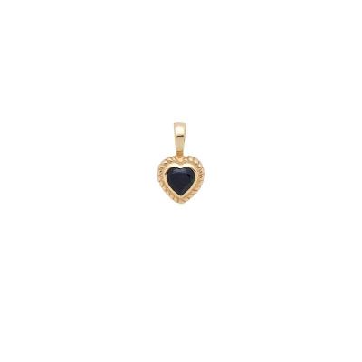 ANNA + NINA 14 Karaat Gouden Solid Heart Sapphire 21-3M904003G