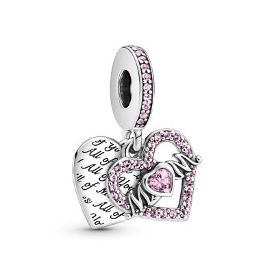 Pandora Passions 925 Sterling Zilveren Heart Mum Hanger 799402C01