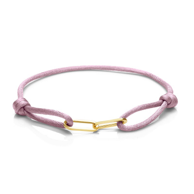 Isabel Bernard La Elysée Roze Satijnen Armband IB09002-02