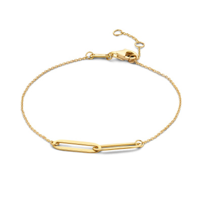 Isabel Bernard 14 Karaat Gouden Le Marais Aidee Armband IB320013 (Lengte: 16.50-18.50 cm)