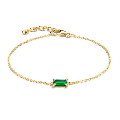 Isabel Bernard 14 karaat gouden Baguette Mirell armband IB320039