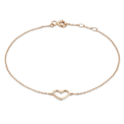 Isabel Bernard La Concorde Alix 14 Karaat Rosé Gouden Armband Met Hartje IB320043