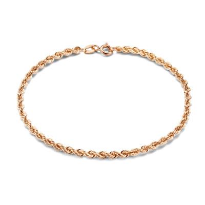 Isabel Bernard La Concorde Violette 14 Karaat Rosé Gouden Armband Twist IB320049