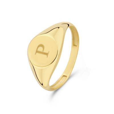 Isabel Bernard Le Marais Lauren 14 Karaat Gouden Initial Ring IB330034P (Letter: P)