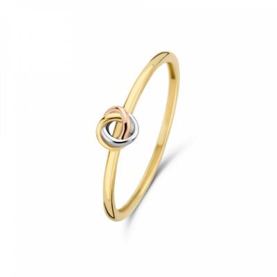 Isabel Bernard Tricolore Maeva 14 Karaat Gouden Ring Met Drie Kleuren Goud IB330037