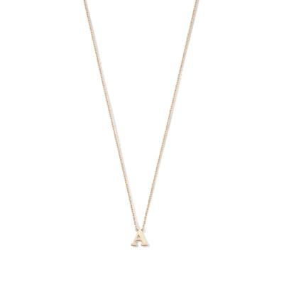 Isabel Bernard La Concorde Chloé 14 Karaat Rosé Gouden Initial Ketting IB340062 (Letter: A-Z)