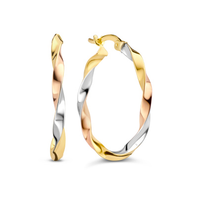 Isabel Bernard Tricolore Maeva 14 Karaat Gouden Creolen IB360110