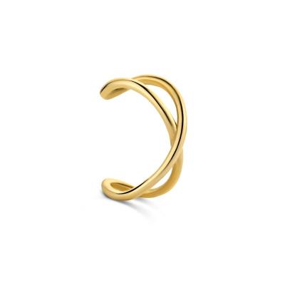 Isabel Bernard 14 Karaat Gouden Le Marais Cannelle Single Oorsteker IB370002